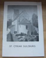 Sulzburg/ St Cyriak  Bade Wurtemberg Allemagne  Petit Guide De14 Pages Illustrations N & B  + Pages De Pub  BE  1964 - Tourism Brochures