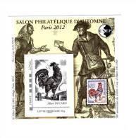 Bloc CNEP N° 62 : Salon D'automne Paris 2012 . Voir Le Scan . Cote Maury N° 62 : 16 € . - CNEP