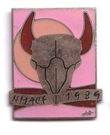 AB352 Pin's Exposition NMACF 1989 Mexico Mexique Art Peinture Superbe Qualité Egf Toro Vache Achat Immédiat Immédiat - Pin's