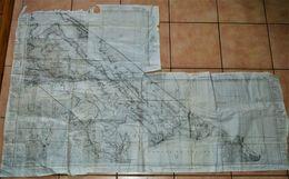 Rare Assemblage De Cartes état-major Guerre Indochine Région De Dièm-Truong War Office 1945 - 1939-45