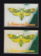 65748-Lot De 2 Pin's-Télévision.médias.Cinéma.Le Silence Des Agneaux. Thriller Policier - Cine