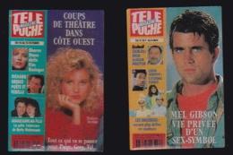 65749-Lot De 2 Pin's-Télévision.médias.Cinéma.Télé Poche.magazine.Presse. - Médias