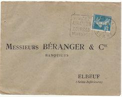 ESC Daguin Araines 1924 - Marcophilie (Lettres)
