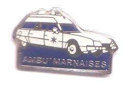 R320 Pin's Ambu'marnaises Ambulance Haute MARNE Saint-Dizier Ceffonds CX Achat Immédiat - Citroën