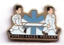 R318 Pin's Médecine Ambulance Ambulances Pokker LENS Achat Immédiat - Medical