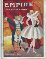 Programme Théâtre Empire Mars 1924 Music Hall Cirque Rentrée à Paris  Maurice Chevalier Yvonne Vallée Clowns Soccodato - Programmi