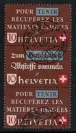 Suisse // Schweiz // Switzerland // Se-Tenant // Pour Récuperez Des Matières Usagées  No.Z38c Oblitéré F/D/F - Se-Tenant