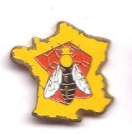 HH222 Pin's Miel Abeille Carte De France Achat Immédiat Immédiat - Alimentation