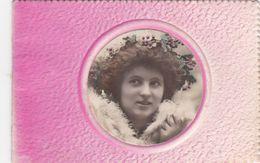CPA Avec Photo Incluse De Jeune Fille Bonne Année Calendrier Année 1909 (4 Scans) - Calendriers