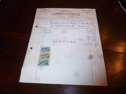 FF1 Document Commercial Facture Ebenisterie Lambert Detaille Nimy 1953 - Belgien