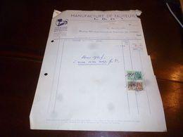 FF1 Document Commercial Facture Manufacture De Fauteuils L.B.C. Anderlecht - Belgien