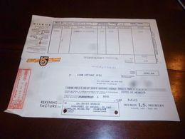 FF1 Document Commercial Facture Meubles L.S. Meubelen Wilrijk 1953 - Belgien