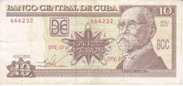 BILLETE DE CUBA DE 10 PESOS DEL AÑO 2012  (BANKNOTE) MAXIMO GOMEZ - Kuba