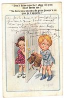 ILLUSTRATEUR DONALD MAC GILL : NE FAIS PAS UN PAS DE PLUS Inter Art Co Florence House Barnes London SW COMIQUE N° 3485 - Tarjetas Humorísticas