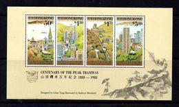 HONG  KONG    1988    Centenary  Of  The  Peak  Tramway    Sheetlet    MNH - Hong Kong (...-1997)
