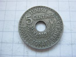 Tunisia , 5 Centimes 1919 - Tunisia