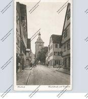 7142 MARBACH, Marktstrasse Mit Torturm, Belebte Szene, Bahnpost, 1929 - Marbach