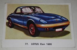 Antiguo Cromo De Editorial Maga, Colección Automóviles 1972, Lotus Elan 1600, Nº77 - Sonstige