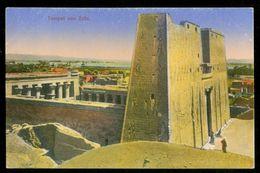 EGYPT * CPA * POSTCARD * TEMPEL Von EDFU (28) - Egypte