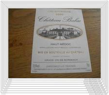 ETIQUETTE CH. BALAC 2000 HAUT-MEDOC - Bordeaux
