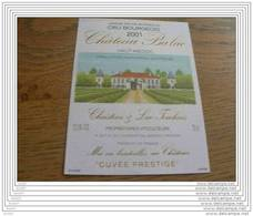 ETIQUETTE CH. BALAC 2001 HAUT-MEDOC - Bordeaux
