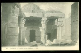 EGYPT * CPA * POSTCARD * THEBES * TEMPLE Of Der MEDINEH   (29) - Egypte