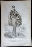 Gravure Sur Acier PONIATOWSKI Joseph Antoine . Prince . Peint Par Vauchelet  Maréchal  - Militaria - Uniforme - Estampes & Gravures