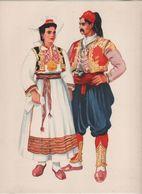 Costumes Nationaux Croates   Yougoslavie 1955 Dalmacija Konavlje Dubrovnik Vladimir Kirin - Non Classificati