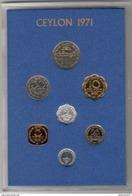 Set De 7 Monnaies Ceylan / Ceylon 1971 Proof - Sri Lanka