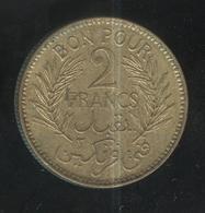 2 Francs Tunisie 1945 - Tunisia