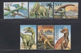 Gabon, Gabun. 2000, Dinos Dinosaurs 6 Stamps - Vor- U. Frühgeschichte