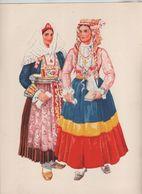 Costumes Nationaux Croates   Yougoslavie 1955 Dalmacija Mljet Peljesac  Vladimir Kirin - Non Classificati