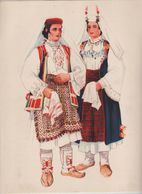 Costumes Nationaux Croates   Yougoslavie 1955 Dalmacija Vrlika Sinj Vladimir Kirin - Non Classés
