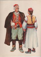Costumes Nationaux Croates   Yougoslavie 1955 Dalmacija Benkovac  Kotari Zadar Vladimir Kirin - Non Classés