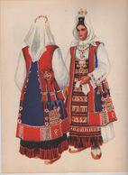 Costumes Nationaux Croates   Yougoslavie 1955 Dalmacija Muc Vladimir Kirin - Non Classés
