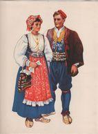 Costumes Nationaux Croates   Yougoslavie 1955 Dalmacija  Podgora  Vladimir Kirin - Non Classificati