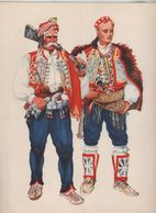 Costumes Nationaux Croates   Yougoslavie 1955 Dalmacija  Sinj Vrlika  Vladimir Kirin - Non Classificati