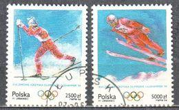 Poland 1994 - Winter Olympics, Lillehammer - Mi 3478-79 - Used - 1944-.... Republik