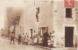 Dépt 91 - BREUILLET (Grande Rue) - CARTE-PHOTO Devanture De CAFÉ - (écrite En 1907 Par Mme Vve BAÜER) - Autres Communes
