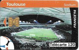 CARTE-PUCE-PUBLIC-F881-120U-OB2-TOULOUSE-STADIUM-V° N°Gras-Série DN°D85001522--Utilisé-TBE - France