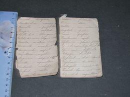 PETIT CARNET MANUSCRIT - FORT USAGE -LANGAGE DES FLEURS - LANGAGE DES TIMBRES - DIVERS - ANCIENS COMBATTANTS 14/18 - Manuscritos