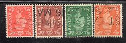 APR1823 - GRAN BRETAGNA 1950 , Unificato 4 Valori Con Filigrana Capovolta (manca L'oltremare) (2380A). - 1902-1951 (Re)