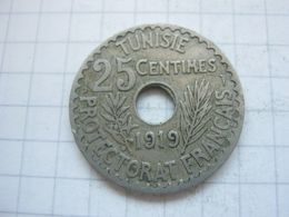 Tunisia , 25 Centimes 1919 - Tunisia