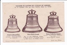 SOUVENIR DU BAPTEME DES CLOCHES DE LANFAINS Le 27 Octobre 1935....... - Otros Municipios
