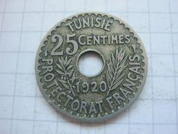 Tunisia , 25 Centimes 1920 - Tunisia