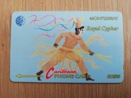 MONTSERRAT  $20,-   ROYAL CYPHER    MON-8A  8CMTAD   FINE USED CARD     ** 2606 ** - Montserrat