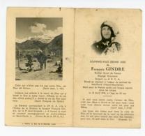 MILITARIA CARTE DE DECES GENEALOGIE SOUVENEZ VOUS FRANCOIS GINDRE SCOUT ROUTIER ENGAGE VOLONTAIRE - Documents Historiques