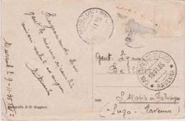 1935 LIBIA MURZUK / TRIPOLITANIA C.2 (3.11) Su Cartolina (Panorama), Viaggiata, Francobolli Asportati - Pubblicitari
