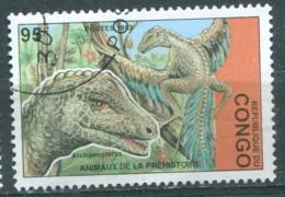 Congo 1993 - YT 986M (o) - Animaux De La Préhistoire - Afgestempeld