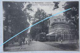 CPAx2 SINT MARIABURG St Mariaburg Naast Brasschaat Antwerpen TRAM Tramway Vicinal Café Du Cycle Auto - Brasschaat
